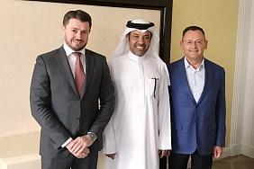Meeting of JSV Belzarubezhstroy management with the owner of PSGT MIDDLE EAST GENERAL TRADING LLC and ALM INVESTMENTS FZE